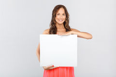 Woman with a copy space Royalty Free Stock Images