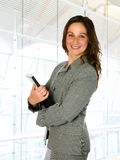 Woman in corporate interior Royalty Free Stock Images