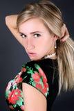 Woman correcting hairs Royalty Free Stock Photos