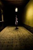 Woman in corridor royalty free stock image