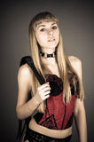 Woman in a corset Royalty Free Stock Photography