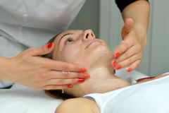 Woman during cosmetic treatment Stock Photography