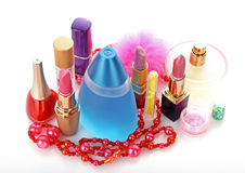 Woman cosmetics stock images