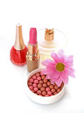 woman cosmetics with flower Royalty Free Stock Images