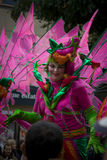 Woman in Costume  Carnival Notting Hill London Royalty Free Stock Photos