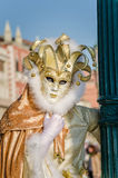 Woman in Costume at the Carnival of Venice Stock Image