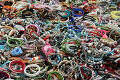 Woman costume jewelry Stock Image