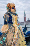 Woman with costume on venetian carnival 2014, Venice, Italy Stock Photo
