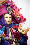 A woman in costume at the Venice Carnival Royalty Free Stock Photography