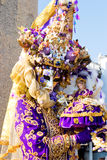 A woman in costume at the Venice Carnival Stock Images