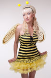 Woman in costumes Stock Image