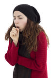 Woman coughing Royalty Free Stock Photography