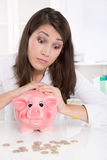 Woman is counting her money Royalty Free Stock Images