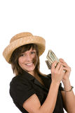 Woman counting  the money Royalty Free Stock Photos
