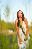 Woman in countryside Royalty Free Stock Photography