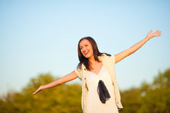 Woman in countryside Royalty Free Stock Photos