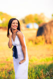 Woman in countryside Royalty Free Stock Photo
