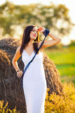 Woman in countryside Stock Image