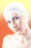 Woman with Covered Hair Stock Photo
