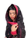 Woman covered in a veil. Royalty Free Stock Photo