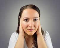 Disturbed By Noise Royalty Free Stock Photos
