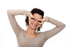 Woman covering her eyes Royalty Free Stock Photo