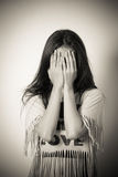 woman covering her eyes Royalty Free Stock Photos