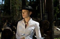 Woman-cowboy Royalty Free Stock Image