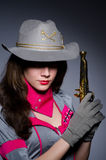 Woman cowgirl Stock Photography