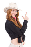 Woman cowgirl Royalty Free Stock Photography