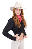 Woman cowgirl Royalty Free Stock Photo