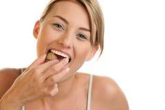 Free Woman Cracking Walnut Stock Photo - 13300080