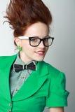 Woman crazy hair Stock Photography