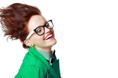 Woman crazy hair Royalty Free Stock Photography