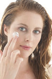 Woman cream face Royalty Free Stock Image