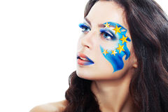 Woman with creative art make up Royalty Free Stock Photography
