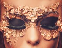 Woman with creative carnival mask Royalty Free Stock Photography