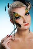 Woman with creative face-art Stock Photos