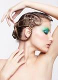 Woman with creative hairdo Royalty Free Stock Photos