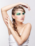 Woman with creative hairdo Royalty Free Stock Photos
