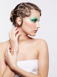 Woman with creative hairdo Stock Photography