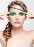 Woman with creative hairdo Stock Image