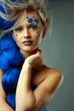 Woman with creative hairstyle Royalty Free Stock Image