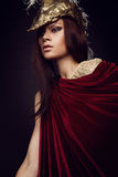 Woman in creative head wear with feathers Royalty Free Stock Photo