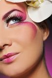 Woman with creative make-up Royalty Free Stock Image