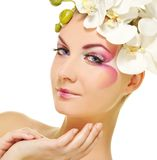 woman with creative make-up Royalty Free Stock Images