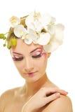 Woman with creative make-up Stock Photos