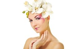 Woman with creative make-up Royalty Free Stock Photo