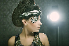 Woman with creative make up Royalty Free Stock Images