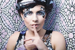 Woman with creative make up Stock Photography